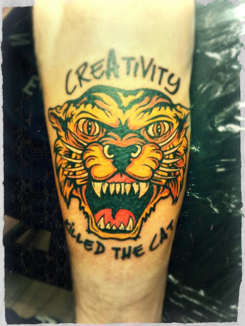 new school tiger tattoo