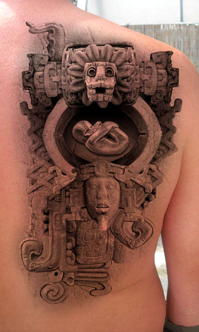 Inca stone tattoo design the official site of rusvai roland for 3d stone tattoo design