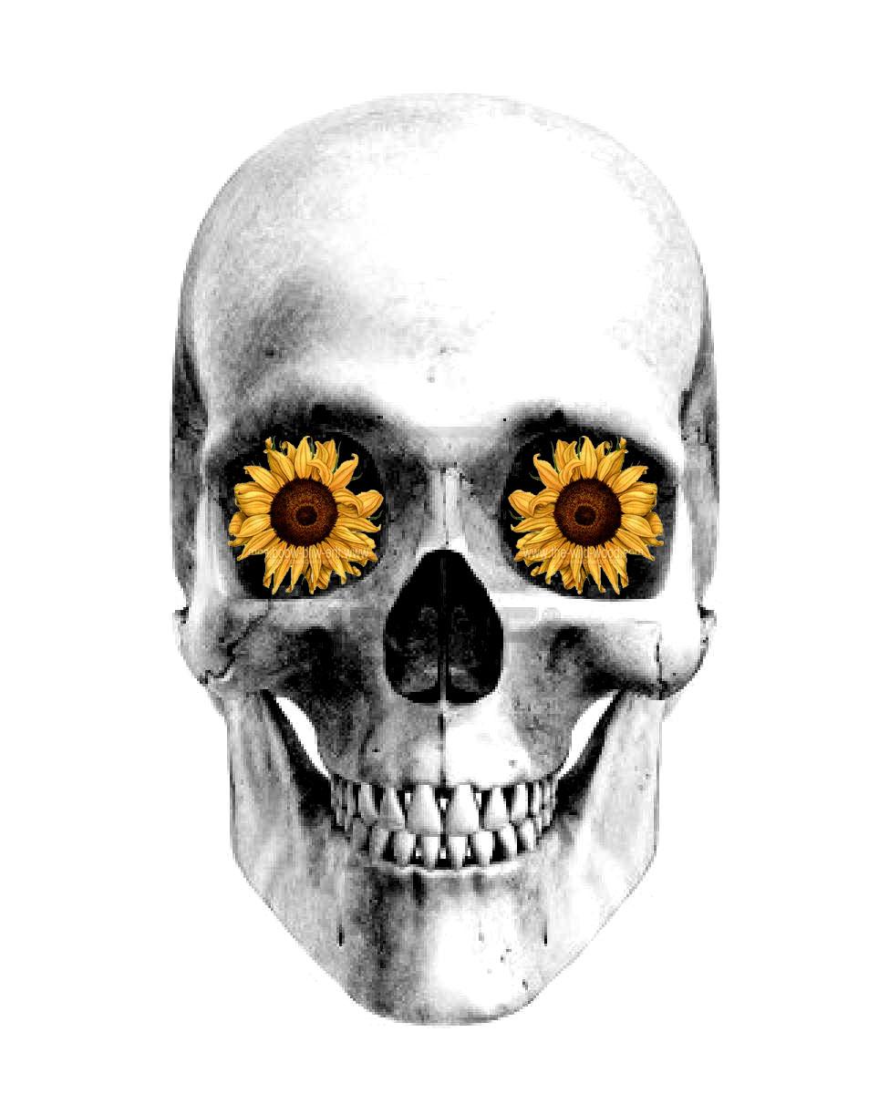 Skullflower tattoo des... Skull And Flower Designs