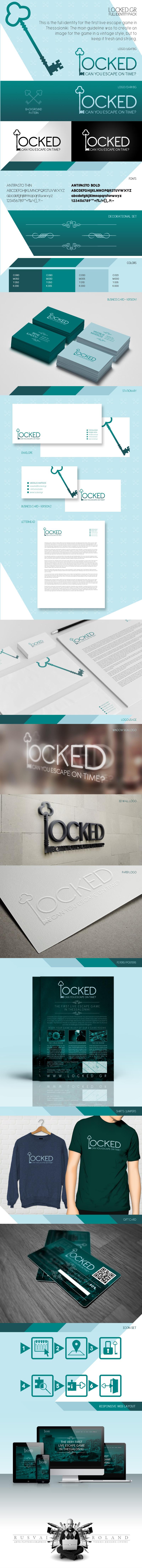Locked.gr full graphic design identity and logo