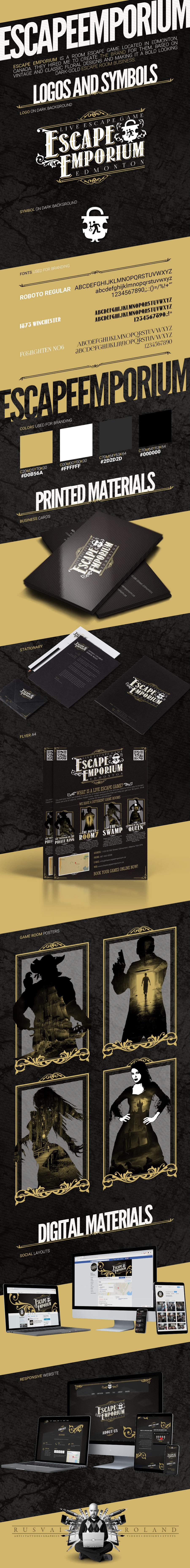 escape emporium full identity branding