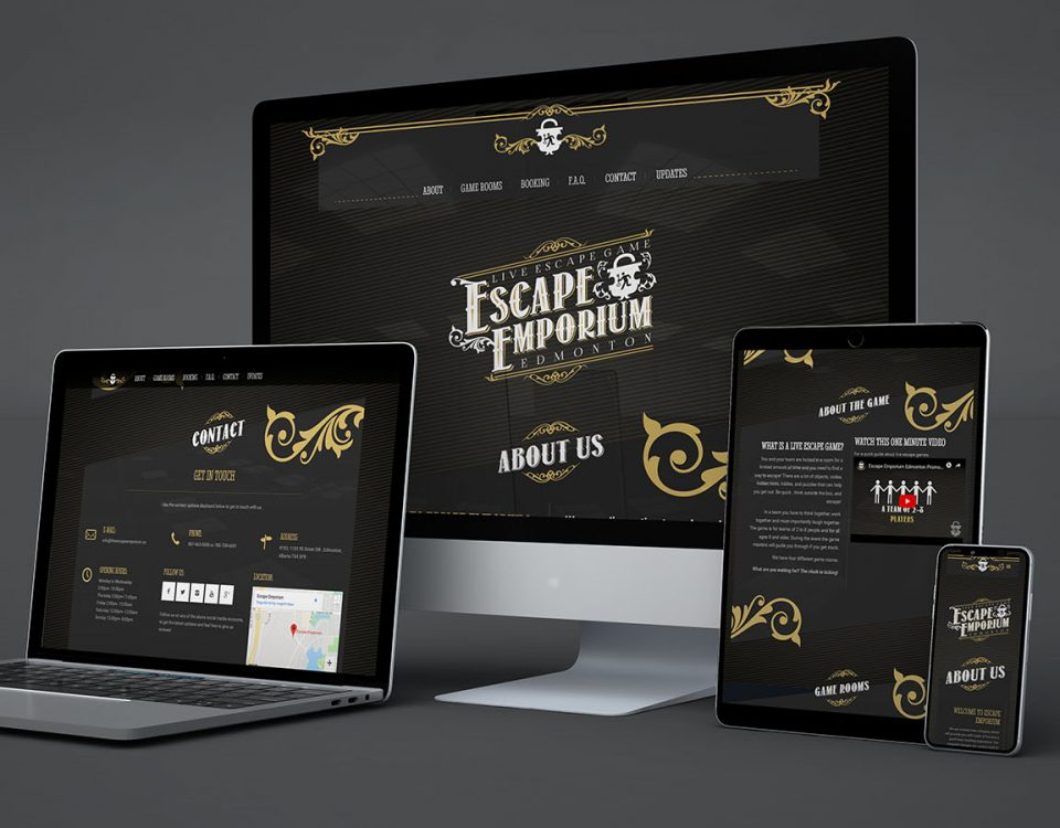 escape emporium website mockup