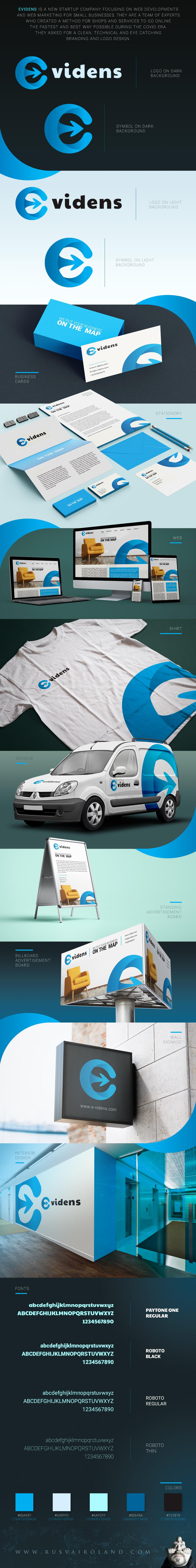 evidens corporate branding design full identity