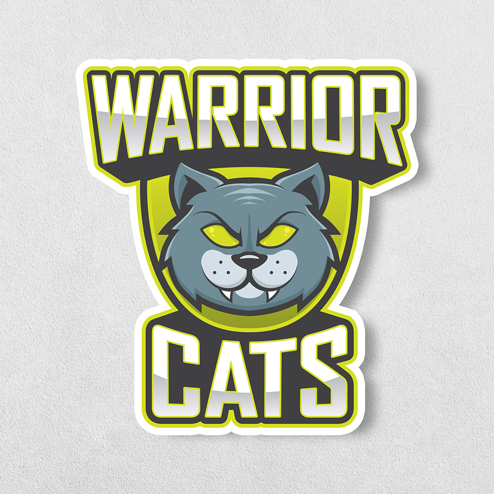 warrior cats esport sticker